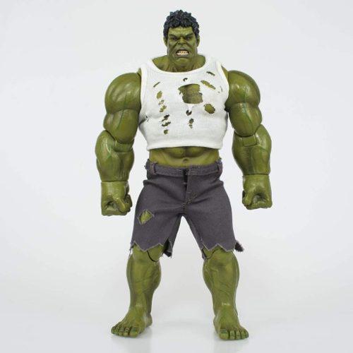 Figura hulk marvel avengers con ropa en tela y accesorios