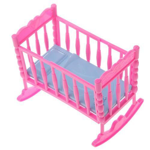 Juegos y accesorios de muebles de cama para casas muñecas b