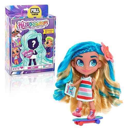 Muñeca coleccionable hairdorables sorpresa y accesorios