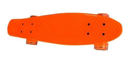 Patineta con luces skate estilo penny con luces longboard