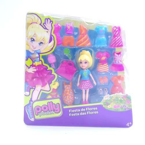 Polly pocket fiesta de flores muñeca + accesorios