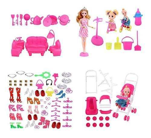 Wnolteab 138 pcs muñeca accesorios y 1 pequeño muñeca