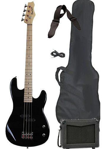 Bajo electrico amplificador y forro musical davison guitars