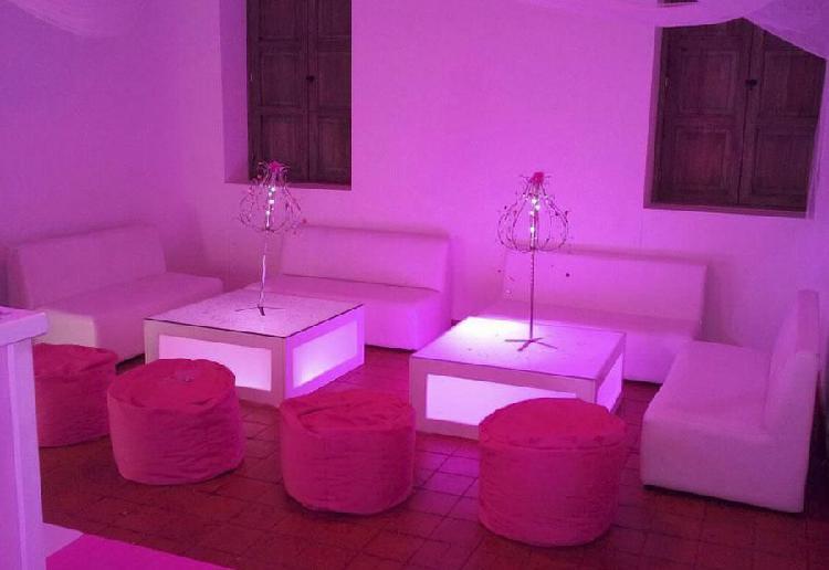 Mesas iluminadas lounge,diseño y fabricación estilos