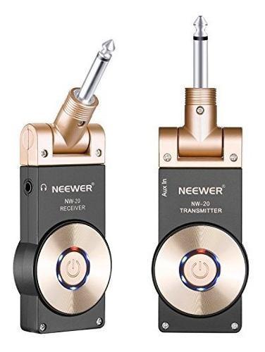 Neewer inalambrica de 24 ghz transmisorreceptor de guitarra