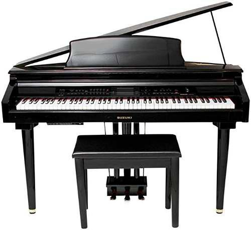 Suzuki mdf-3000 piano digital pequeño color negro