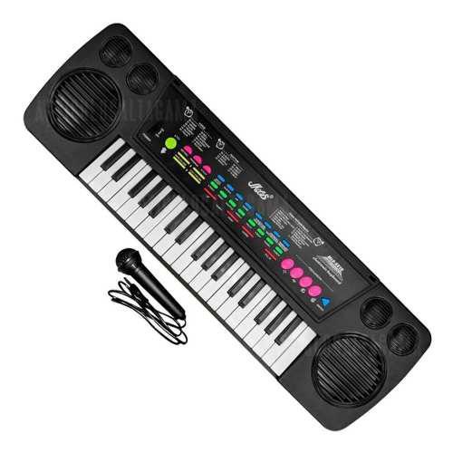 Teclado organeta piano electrónico 37 teclas con micrófono