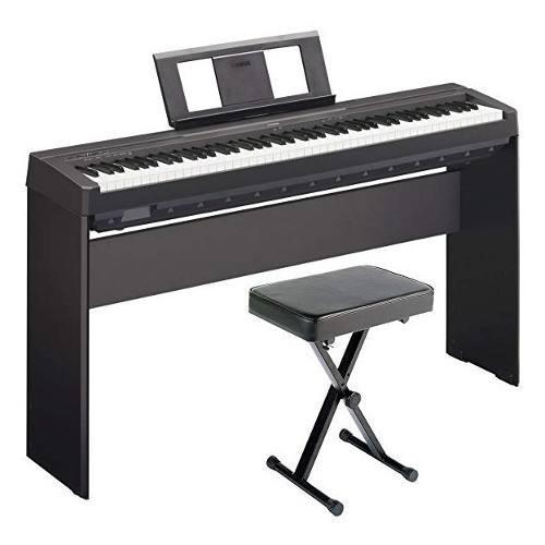 Yamaha p45 piano digital + pedal sustain y fuente alimentaci