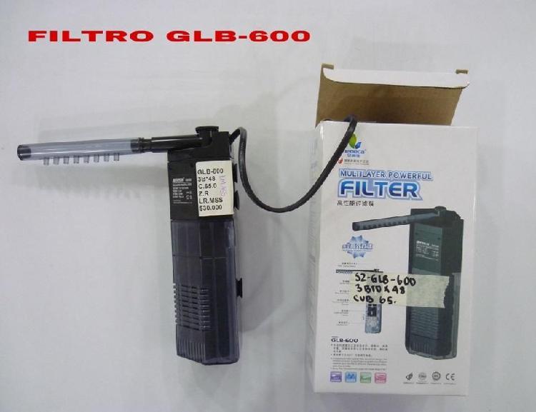 Filtro para pecera glb 600 nuevo con capacidad de 150 litros