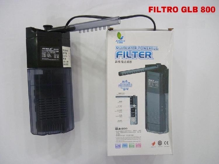 Filtro para pecera glb 800 nuevo con capacidad de 180 litros