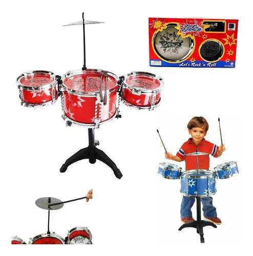 Bateria niño tambor didactico juguetes armable juguetería