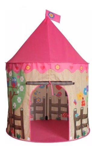 Carpa castillo juguete princesas casita niña bosque