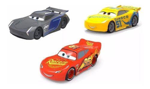 Cars disney rayo mcqueen, cruz y storm set x 3 carros ajd