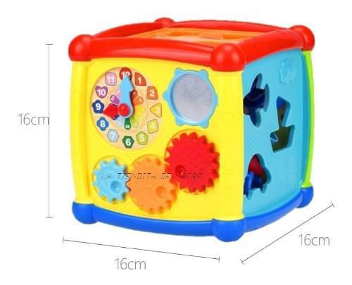 Cubo didáctico estimulación temprana bebes niño niña