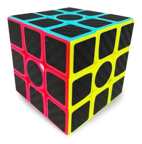 Cubo rubik z cube fibra de carbono 3x3 - envio gratis