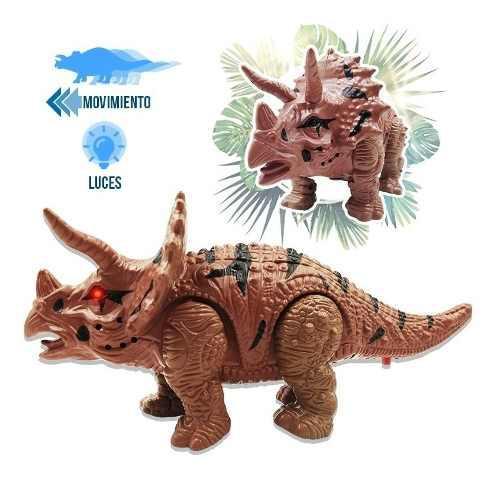 Dinosaurio movimiento sonidos luces triceratop juguete mdt2