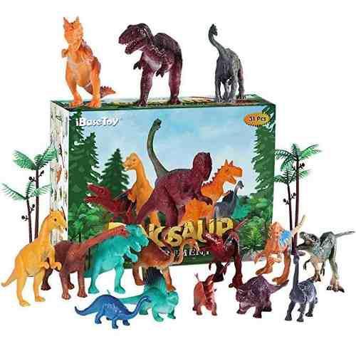 Ibasetoy jurassic world dinosaurio juguetes 15 unidades 4 a