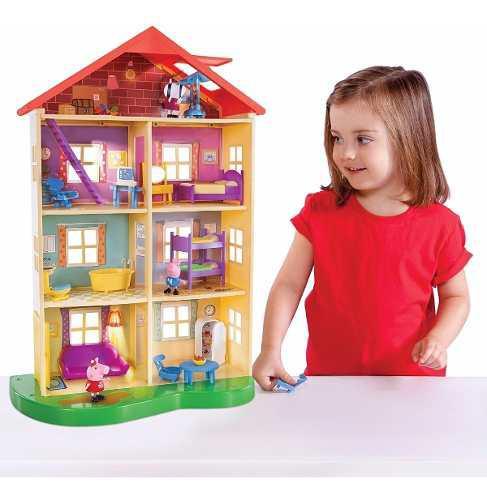 Juego de casa familiar peppa pig luces sonidos juguete