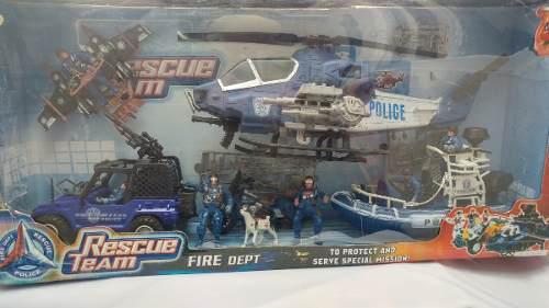 Juegos juguetes rescue team policia nuevo super oferta*