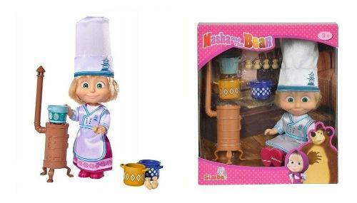 Juguete muñeca para niña masha y el oso set cocina