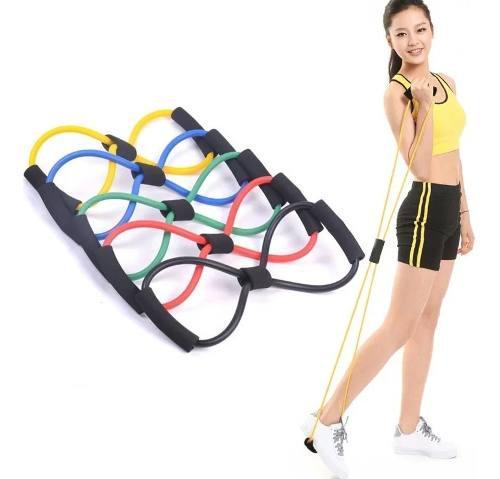 Kit con dos (2) banda de resistencia 8 de fitness elástico