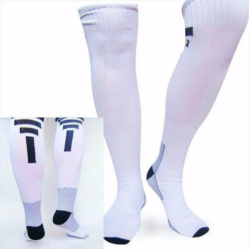 Medias fútbol deportivas fitness color blanco