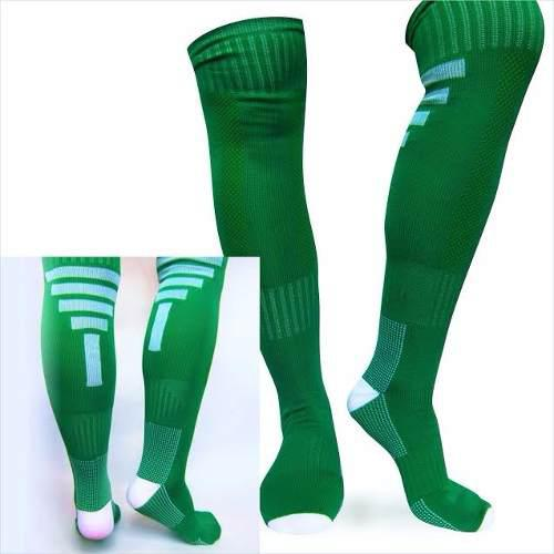 Medias fútbol deportivas fitness color verde