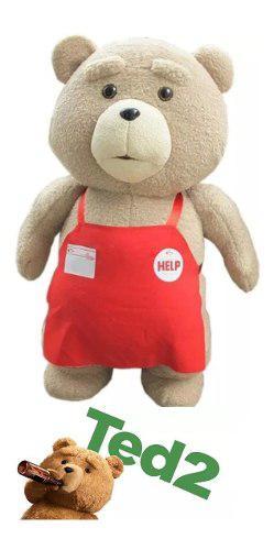 Oso ted peluche osito teddy, delantal 25cm importado obs ajd
