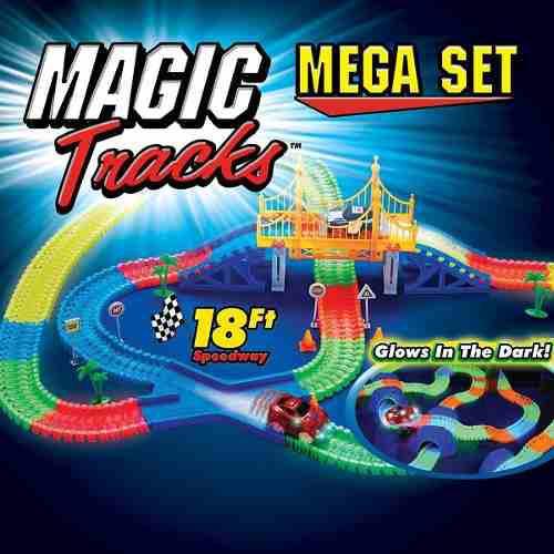 Pista magic tracks grande 5.5 metros 2 carritos, puente