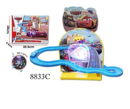 Pista magnetica cars disney niños juguete toy con 3 carros