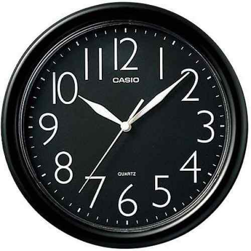Reloj casio de pared iq-01 analogico en negro 100% original