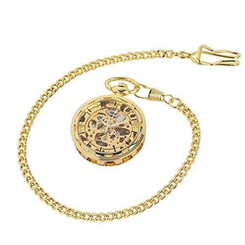 Reloj lujo oro cuerda manual bolsillo mecánico observa ros