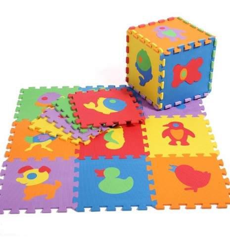 Tapete didáctico en foami 10 piezas para bebe fomi surtidos