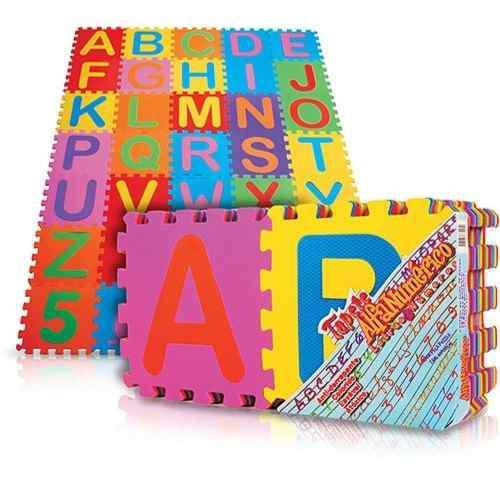 Tapete foamy fomi fomy letras numeros figuras 50 piezas