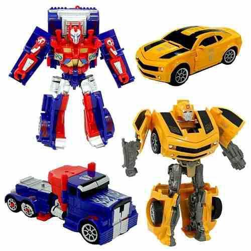 Transformers bumblebee optimus prime x2 juguetería juguetes
