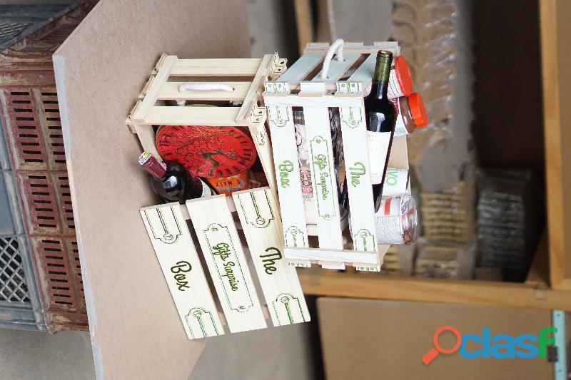 Caja de madera o empaque para ancheta