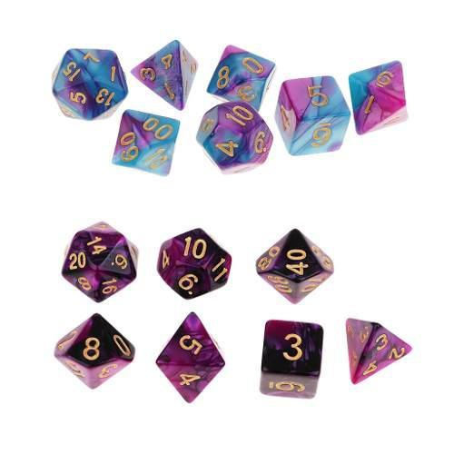14pcs dados de número para juego de rol juegos de tablero