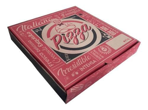 30 Cajas De Pizza En Carton 24 Cm X 24 Cm X 4 Cm