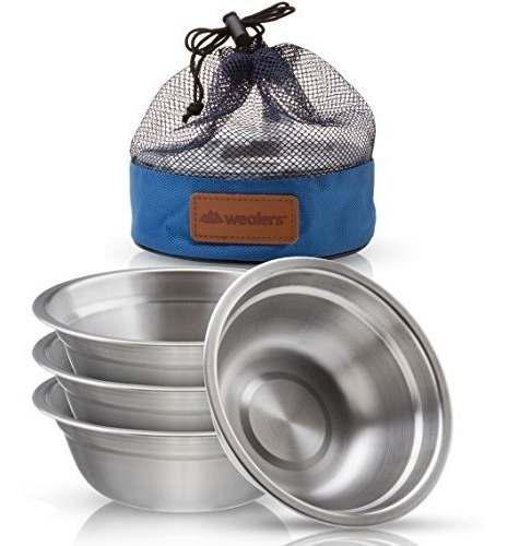 Juego de tazón de fuente de acero inoxidable - vajilla