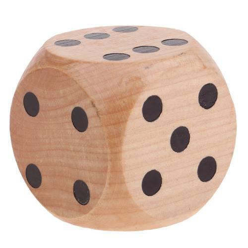 Madera dados de 6 caras, piezas para juegos de rol
