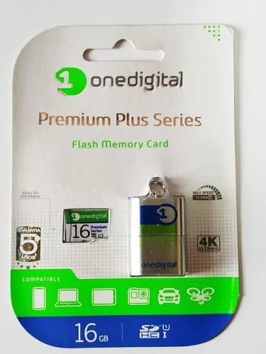 Memoria micro sd 16gb clase 10, 4k, onedigital premium plus
