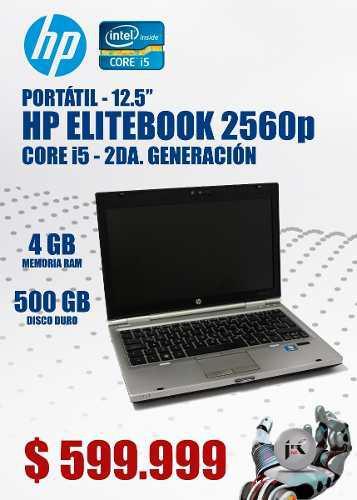 Portatil hp elitebook 2560p. core i5 segunda generacion