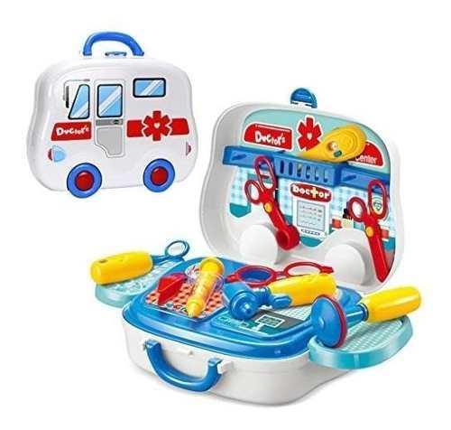 Set de doctores para niños en maleta médica: juego de
