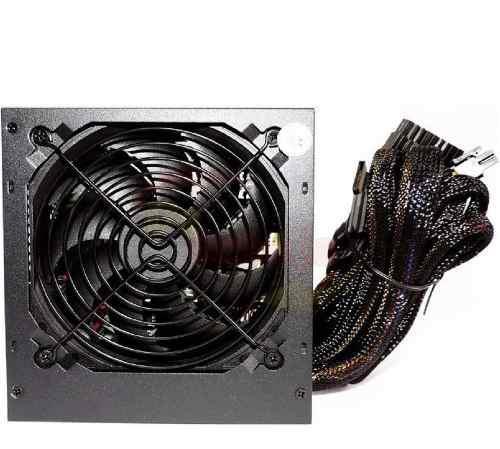 Fuente poder 550w reales gamer cables sata gpu cpu pci-e hdd