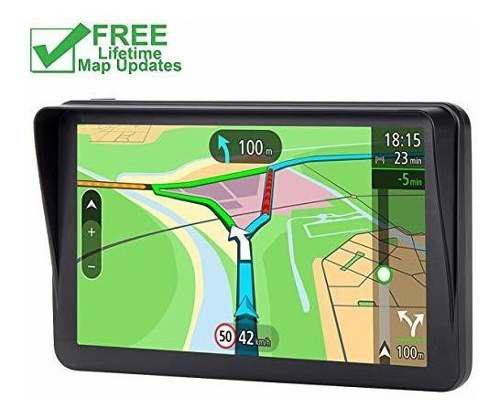 Gps para automóvil, sistema de navegación de 7 plg y 8gb p