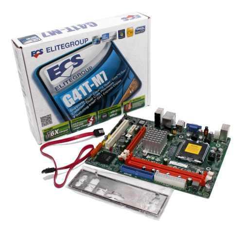 Mother board procesador intel socket lga 775 ddr3 g41t-m7