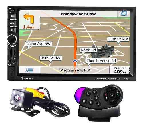 Reproductor mp5 p/auto con control remoto y navegación gps