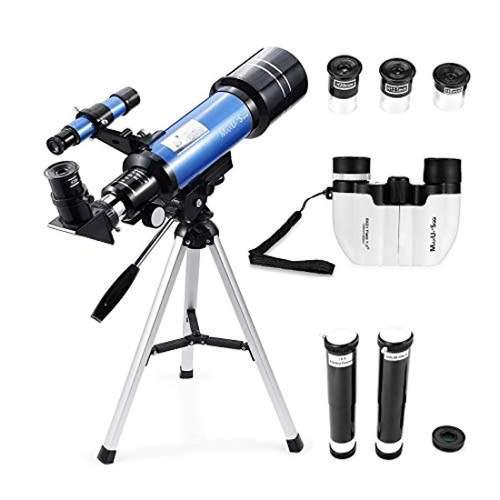 Telescopio refractor de 70 mm prismáticos compactos 8x21