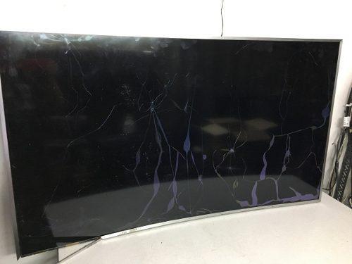 Tv samsung led curvo un55ku6500k pantalla rota !!leer!!