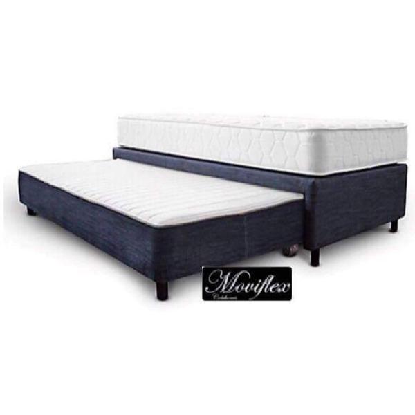 Base cama con auxiliar y colchones
